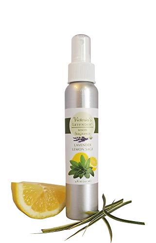 Victoria's Lavender Room Spray All-Natural Home Fragrance 100% Pure Essential Oil Air Freshener Odor Eliminator (Lemongrass) | MADE IN USA