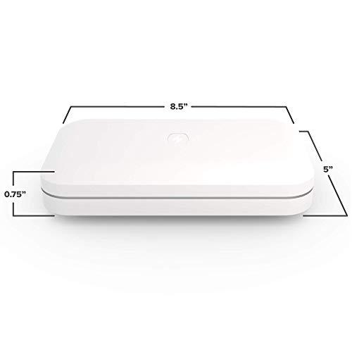 PhoneSoap 3 Desinfectante UV para teléfonos móviles y Cargador Doble Universal para teléfonos | Sanitizador UV Patentado y Clínicamente Probado | Limpia y Carga Todos los teléfonos - Blanco