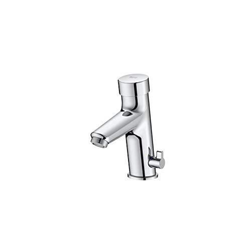 Mezclador grifo temporizado de repisa para lavabo Eco, serie Fluent, 15 x 11 x 15 centímetros, color cromado (Referencia: A5A3B24C00)
