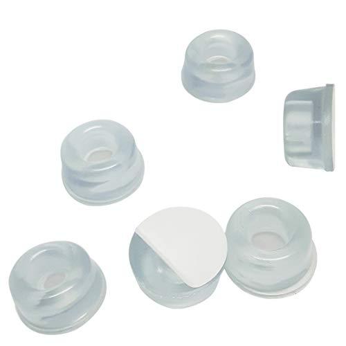 allita Anschlagpuffer | Türstopper | Selbstklebend ohne Bohren | Wandschutz für Bad, Küche & Haushalt | Elastikpuffer (6er Pack)