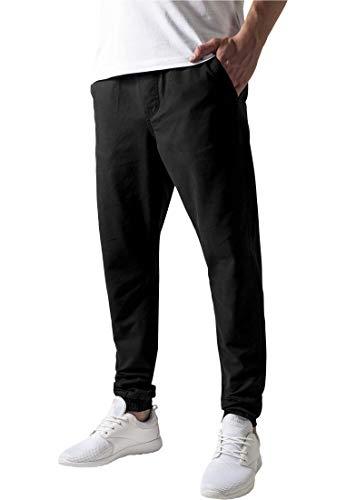 Urban Classics Herren Washed Canvas Jogging Pants Hose, Schwarz (Black 7), W30/L31 (Herstellergröße: S)