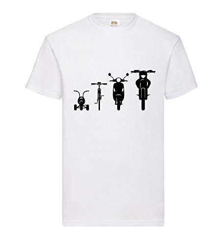 shirt84.de Evolution Front 2.0 - Camiseta para hombre Blanco XXXL