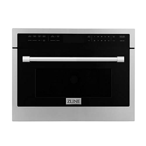 """ZLINE 24"""" Built-in Convection Microwave Oven in Stainless Steel with Speed and Sensor Cooking"""