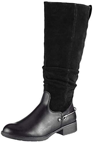 Tamaris Damen 1-1-25526-23 Hohe Stiefel, Schwarz (Black 1), 39 EU
