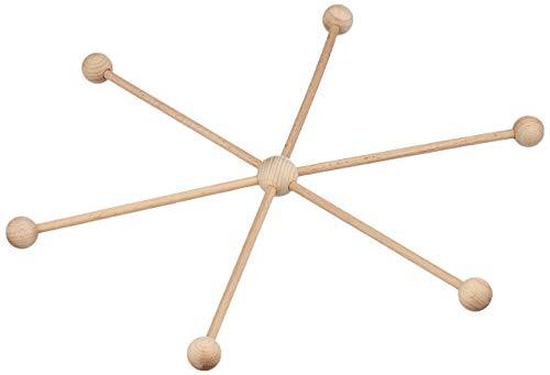 EFCO 1423133 Mobile Star 13 delar ø 33 cm obehandlat, trä, brun, 33 x 33 x 5 cm