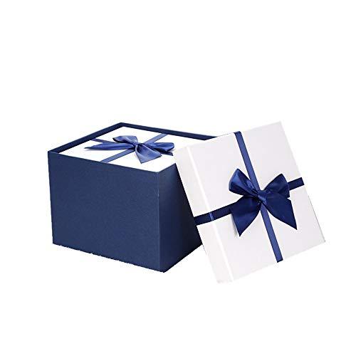 FRYH Caja De Regalo Boda Navidad Baby Shower Tarta Casera De Regalo De Cumpleaños Galleta Chocolate Galleta Caramelo Vela Bomba De Baño Joyero,Blue