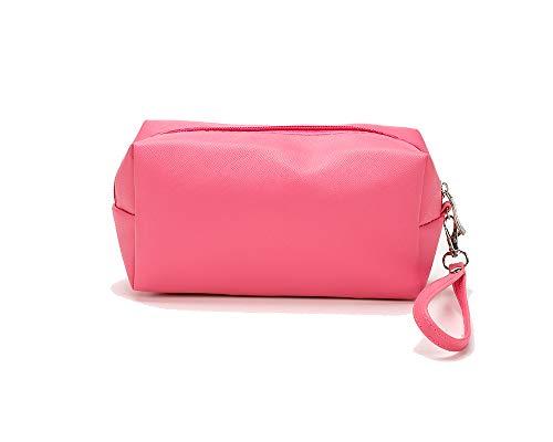 Neceser Mujer Maquillaje Bolsa de Aseo Playa Neceser Impermeable Organizador de Viaje Bolsa de Cosmético color Rosa Chicle