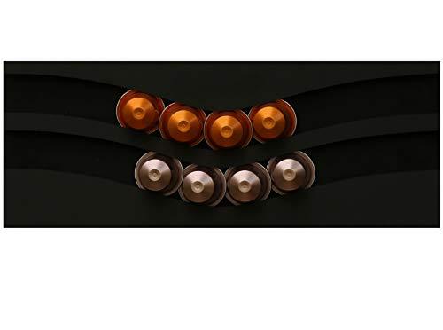 Dispensador de cápsulas nespresso, 20 cápsulas (negro)