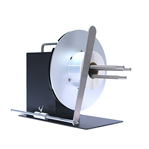 "U.S. Solid Automatic Label Rewinder Rewinding Machine w/Adjustable Core Holder 1""- 4"", Label Width 4.7"", Roll Diameter 8.7"""