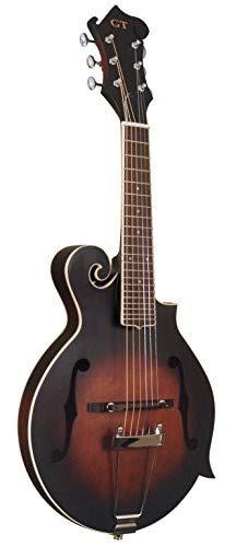 F-6 Mandoline für Gitarre, F-Stil, goldfarben