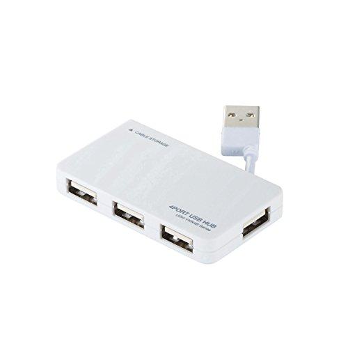 エレコム USB2.0 ハブ 4ポート バスパワー コンパクト ケーブル収納 ホワイト U2H-YKN4BWH