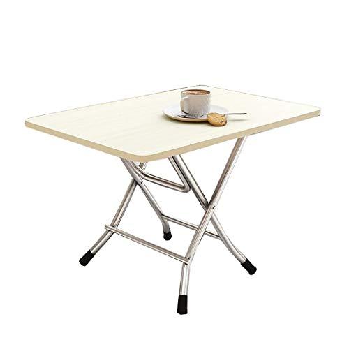 Mesa de comedor plegable, mesa de café, mesa cuadrada, mesa de estudio, escritorio pequeño, mesa de picnic portátil, 80 x 50 x 50 cm, 7 colores (color: C)