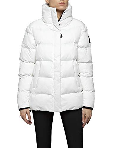 Replay Damen W7464 .000.83108 Jacke, Weiß (Butter White 12), Large (Herstellergröße: L)