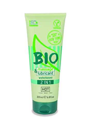 HOT BIO Massageöl und Gleitmittel 2in1, 200 ml, Für erotische Massagen und ein perfektes Gleitgefühl. Ideal für Happy End Massagen