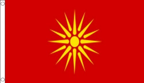 AZ FLAG Flagge MAZEDONIEN ALT 150x90cm - MAKEDONISCHE Fahne 90 x 150 cm - flaggen Top Qualität