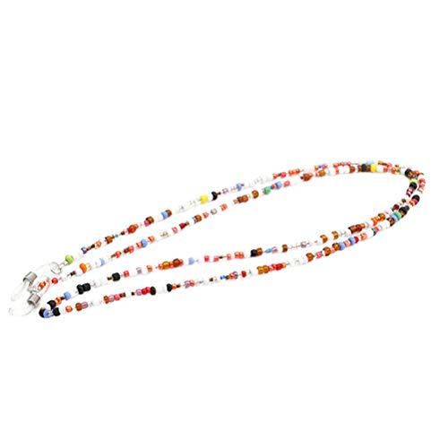 HEALIFTY Bunte Perlen Brillenkette Brillenband Schnüre und Riemen Brillenhalter für Frauen (zufällige Farbe)