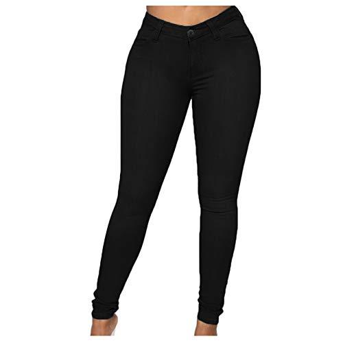 High Waist para Mujer Pantalones Pantalones De Mezclilla Casual para Mujer Vaqueros Mujer Elasticos...