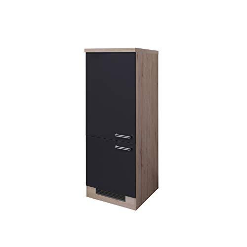 MMR Midi-Kühlschrankumbauschrank LONDON - Umbauschrank für Kühlschrank - 2-türig - Breite 60 cm - Anthrazit