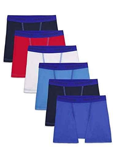 Fruit of the Loom Toddler Boys' Boxer Briefs (Assorted), Cotton Stretch-6 Pack-Assorted, 2T/3T