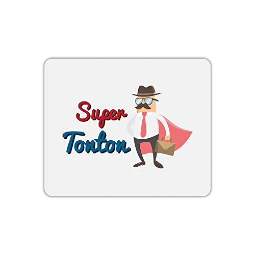 Tapis de Souris Rectangle imprimé Super Tonton