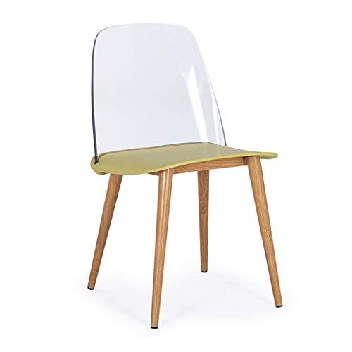 zyy eetkamerstoelen van kunststof, met rugleuning van stalen buis, benen, bureaustoel, ontbijtshocker, 120 kg