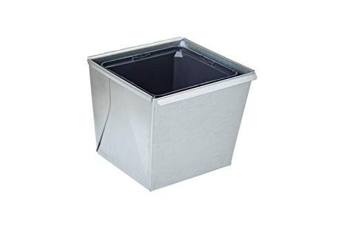 Gabioka flowerbox small (3, verzinkt) Blumenkasten/Gewürzlinge/Gartendeko/Pflanzkasten für Gabionen und Zäune aus Doppelstabmatten