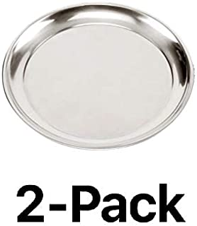 """Norpro Heavy Gauge Stainless Steel 15.5"""" Professional Pizza Pan Tray (2-Pack)"""
