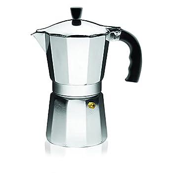 IMUSA USA B120-42V Aluminum Espresso Stovetop Coffeemaker 3-Cup Silver