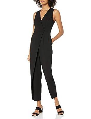 BCBGeneration Women's Vest Jumpsuit, Black, 8