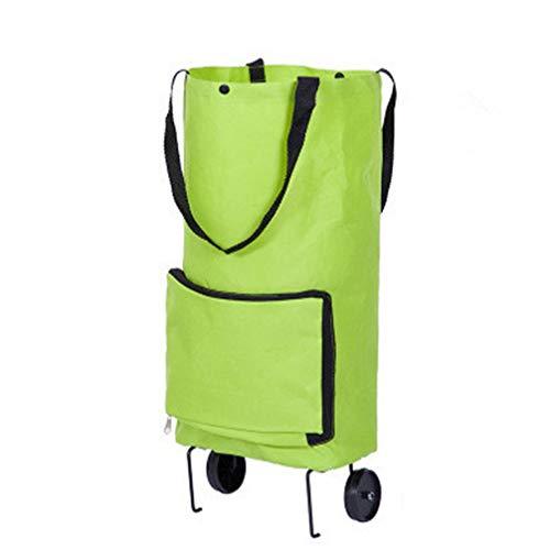 LoveAloe Folding Shopping Cart Elderly Portable Collapsible Cart Home Shopping Cart Tug Bag