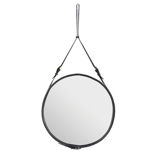 Gubi - Adnet Spiegel Circulaire - schwarz - Ø 70 cm - Jacques Adnet