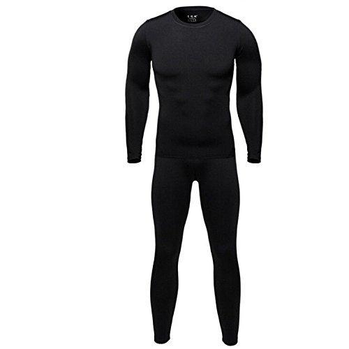 Men Thermal Underwear Set - Winter Skiing Mens Warm Top and Bottom Set Thermal Long Johns