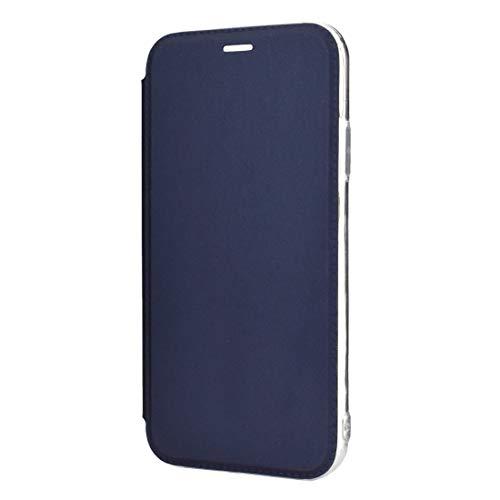 AMPELOS Caja del teléfono -Solid Color Llanda PU + TPU Mirror Funda de Cuero para iPhone 11 Pro (Negro) Anti-caída (Color : Blue)