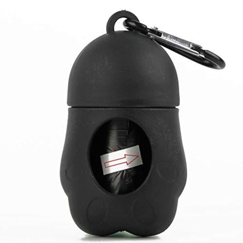 MeterMall Pet Dog Dispenser Poop Bag Set Vuilniszakken Draagzak Dierlijk Afval Picker Reinigingsgereedschap voor Outdoor zwart