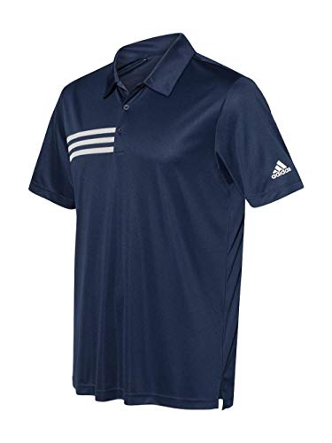 adidas Mens 3-Stripes Chest Sport Shirt (A324) -Collegiate -3XL