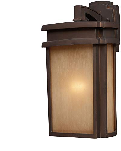 Elk Lighting 42141/1-LED 1 Light Outdoor Clay Bronze-LED Offering Up to 800 Lumens (60 Watt Equivalent) with Full Sconce