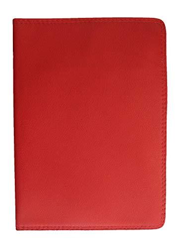 Josephine Osthoff Handtaschen-Manufaktur SOS großes Leder Ausweisetui Rot mit RFID Schutz DIN A6 Etui für Ihre Ausweise Behindertenausweis Einband Hülle