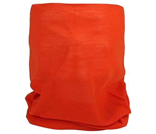 Foulard Multifunzione Arancione Bandana Tubolare Copricollo Fazzoletto Fascia Scaldacollo Traspirabile e Resistente per Uomo e Donna copre Naso e Bocca, arancione