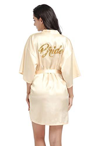 Satin Kimono Wedding Party Getting Ready Robe Bride Robe Bridal Kimono Bridesmaid Proposal Gifts