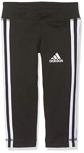 adidas Mädchen YG TR EQ 3S 34T Tights, Black/White, 7-8Y
