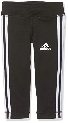 adidas Mädchen YG TR EQ 3S 34T Tights, Black/White, 1112