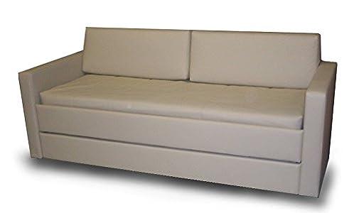 Ponti Divani Cama litera con Mecanismo Innovador, Equipado con un Sistema de Seguridad. Dos colchónes Incluido! Tapicería de Piel sintética. Producto Made IN Italy!!!