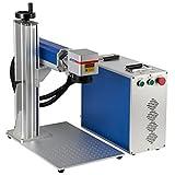 Cloudray Máquina de marcado de acero inoxidable de metal 20-50W Raycus para grabador láser de fibra cortador láser (300 * 300 Con eje de rotacion, 50W)
