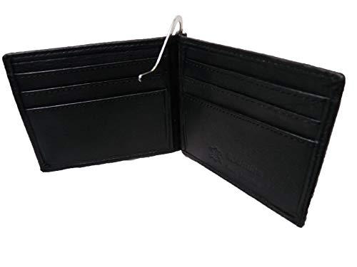 RFID NFC Blokkeren Lederen Portemonnee met Geld Clip - 6 Credit Card Slots - 2 Verborgen Slips - Sprung Geladen Metalen Bank Notitiehouder - 11cm x 9 x 1 - Mens Designer Portemonnees Roamlite RL192