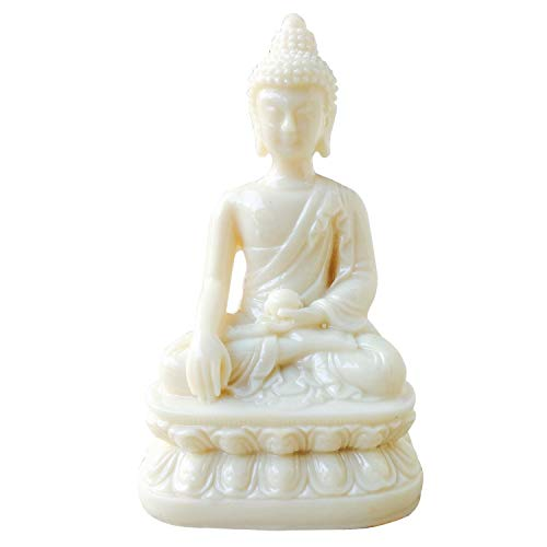 Sahishnu Online And Marketing Polyresin Gautam Buddha Statue (White)