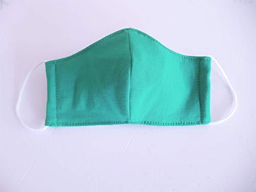 Schutzmakse, Mundschutz, Mund- und Nasenschutz für Kinder, Kindermundschutz aus Stoff, grün, Gr. XS,Mit Spezialgummi, Länge ist anpassbar. sofort lieferbar aus DE