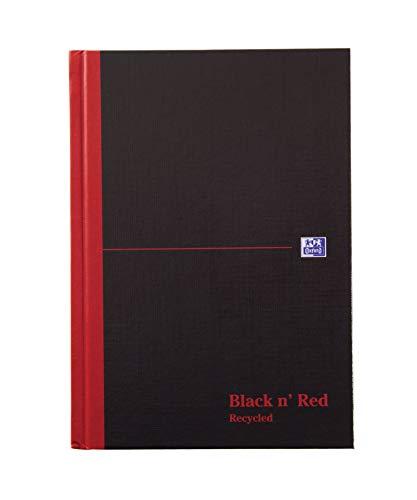 Black n Red Réf C67025 Cahier en papier recyclé Reliure rigide 90 g/m² Ligné 192 pages A5 Lot de 5 (Import Royaume Uni)