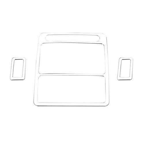 HUAER Accesorio de Coche Estilizador Frente de Lectura Marco de luz Trit Ajuste de lámpara Trasera Ajuste para Land Rover Discovery Sport 4 2016 (Color Name : Silver)