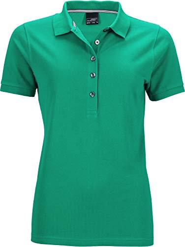 James & Nicholson Damen Ladies' Pima Polo Poloshirt, Grün (Irish-Green), 40 (Herstellergröße: XL)