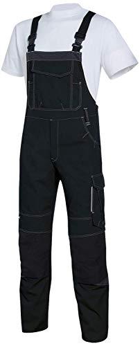 Uvex New Worker 3644 Herren-Arbeitshose - Schwarze Männer-Latzhose 64/66